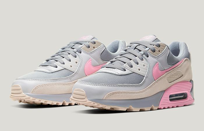 Nike Air Max 90 Wolf Grey Pink CW7483-001 02