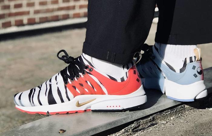 Nike Air Presto Korea White Red CJ1229-100 on foot 01