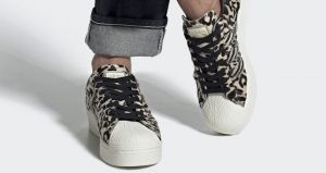 Official Look At The adidas Superstar Bold Animal Print Beige 01