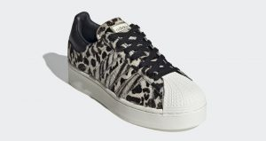 Official Look At The adidas Superstar Bold Animal Print Beige 02