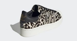 Official Look At The adidas Superstar Bold Animal Print Beige 03