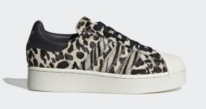 Official Look At The adidas Superstar Bold Animal Print Beige
