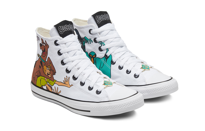 Scooby-Doo Converse Chuck Taylor All Star High Top Pastel White 169076C 02