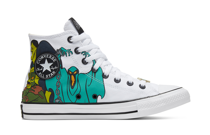 Scooby-Doo Converse Chuck Taylor All Star High Top Pastel White 169076C 03