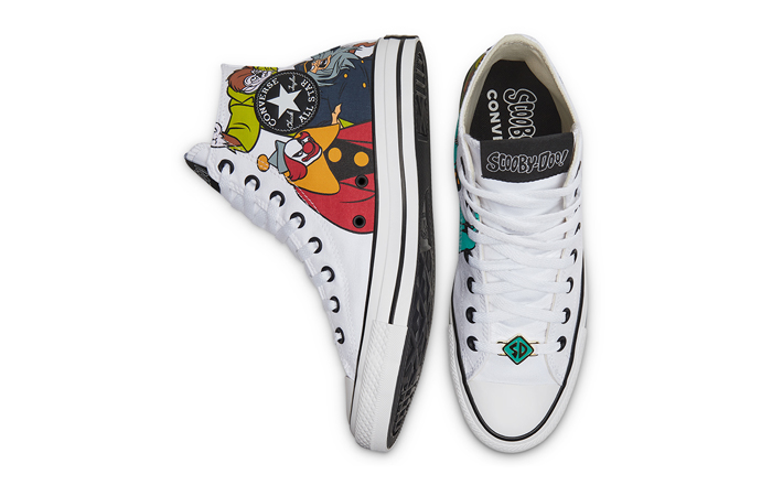 Scooby-Doo Converse Chuck Taylor All Star High Top Pastel White 169076C 04