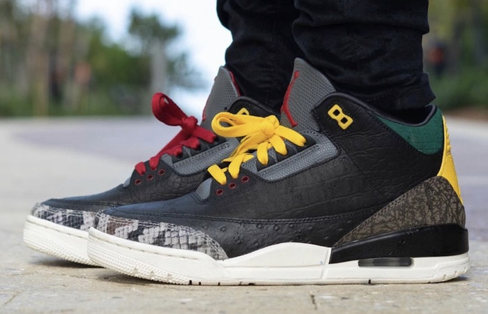 The Jordan 3 SE Animal Instinct 2.0 Snakeskin Black Releasing This Week! ft