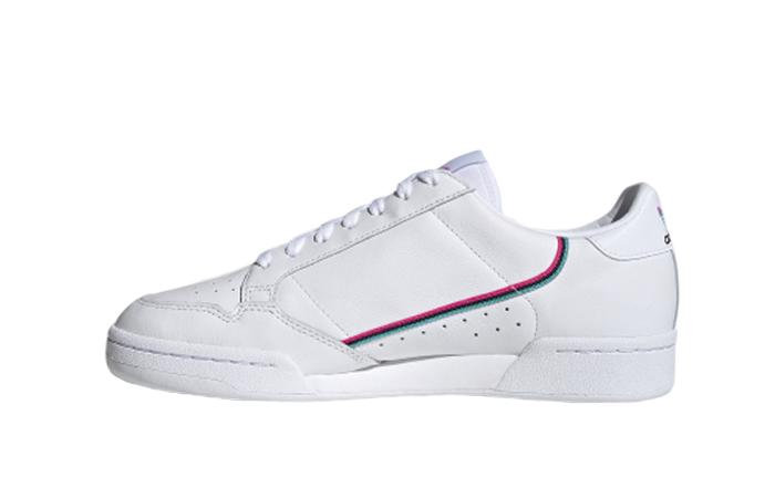 adidas Continental 80 White Aqua Blue FX3516 01