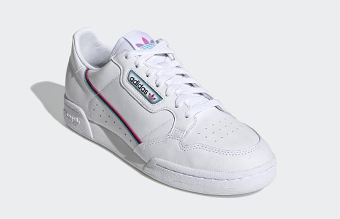 adidas Continental 80 White Aqua Blue FX3516 02