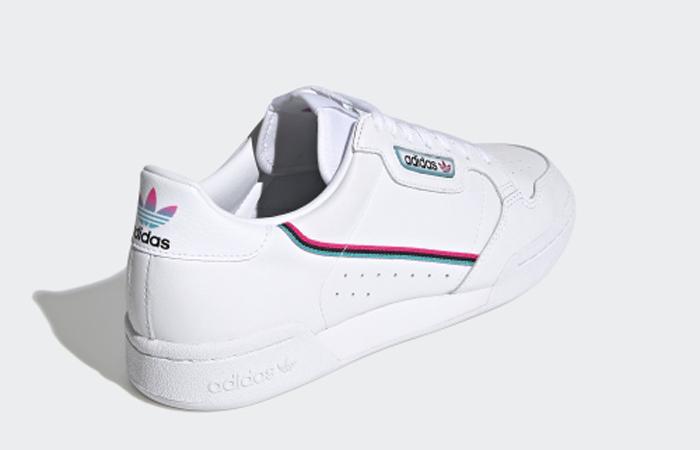 adidas Continental 80 White Aqua Blue FX3516 05