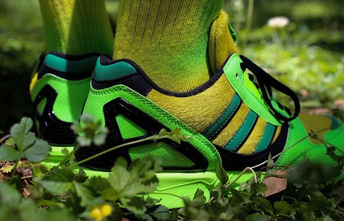 atmos adidas ZX 8000 G-SNK Parrot Green FX8593 on foot 03