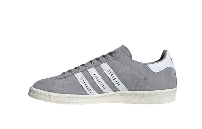 Human Made adidas Campus Grey White FY0733 01