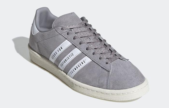 Human Made adidas Campus Grey White FY0733 02