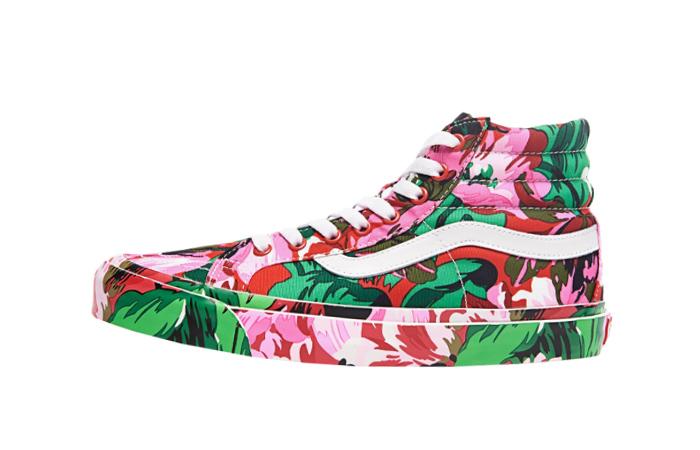 Kenzo Vans Vault OG SK-8 Hi LX Floral Red VN0A4BVB02G 01