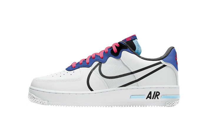 Nike Air Force 1 React White Astronomy Blue CT1020-102
