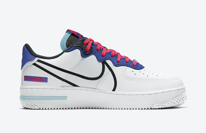 Nike Air Force 1 React White Astronomy Blue CT1020-102 07