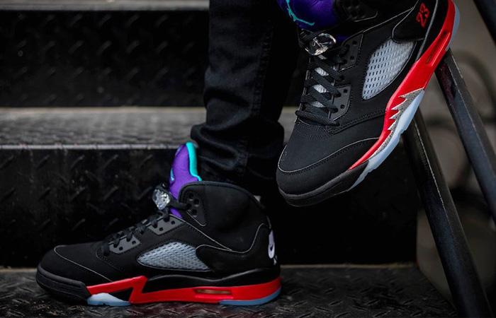 Nike Air Jordan 5 SE Black CZ1786-001 on foot 01