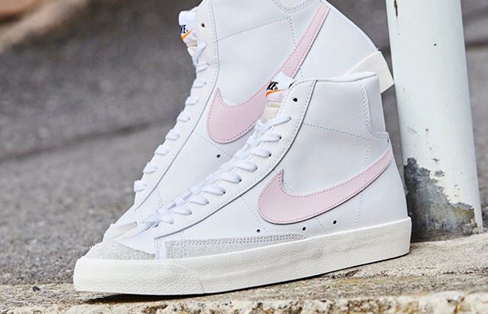 Nike Blazer Mid 77 White Pink Swoosh BQ6806-108 02