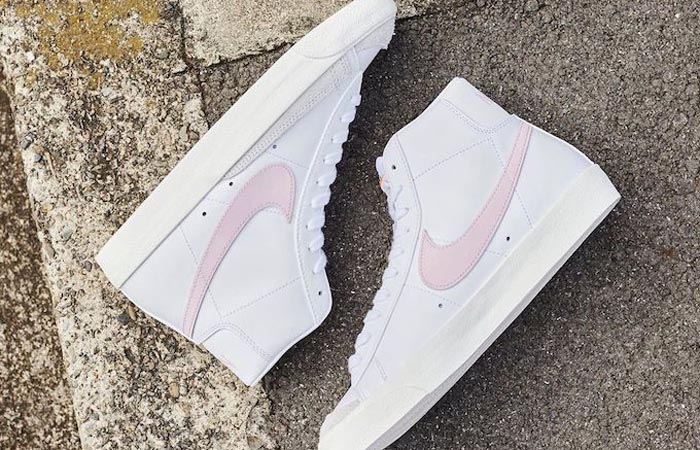 Nike Blazer Mid 77 White Pink Swoosh BQ6806-108 04