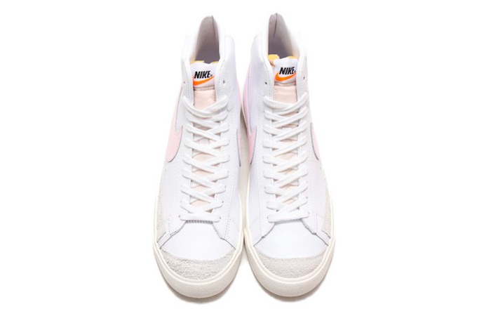 Nike Blazer Mid 77 White Pink Swoosh BQ6806-108 06