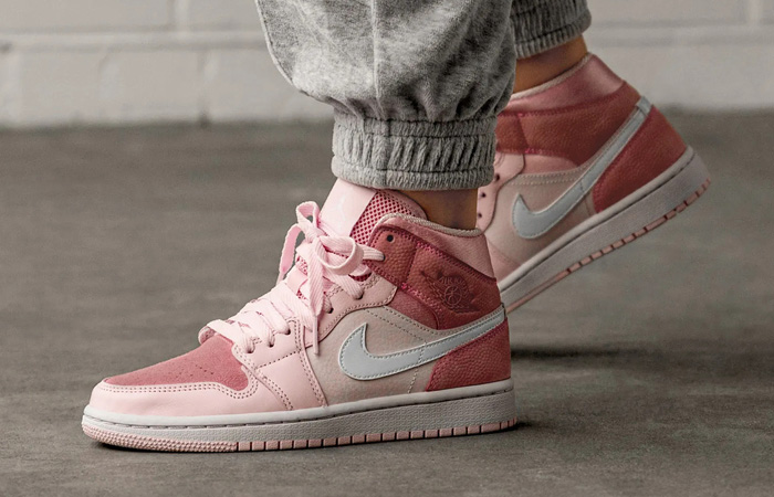 Nike Womens Air Jordan 1 Mid Digital Pink Cw5379 600 Fastsole
