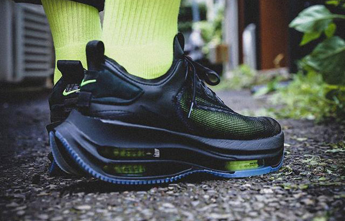 Nike Zoom Double Stacked Black Volt CI0804-001 on foot 02