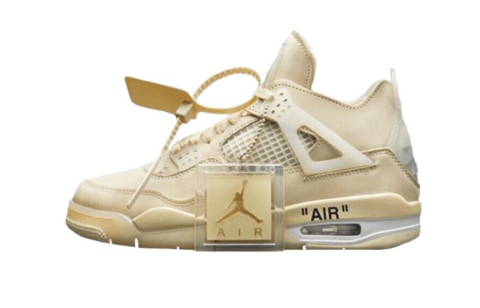 Off-White Nike Air Jordan 4 Sail CV9388-100 01