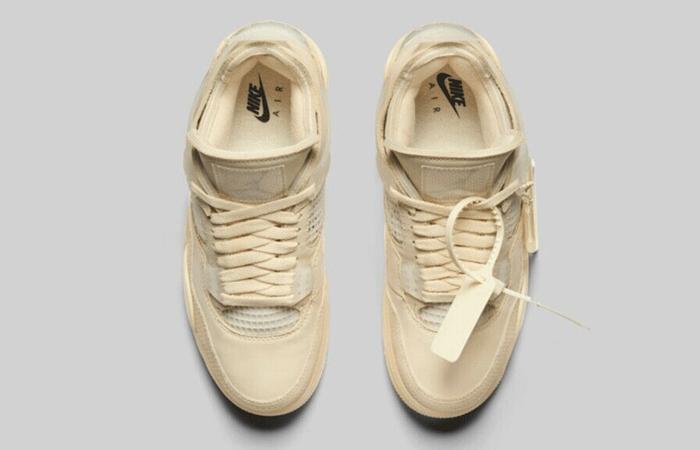 Off-White Nike Air Jordan 4 Sail CV9388-100 04
