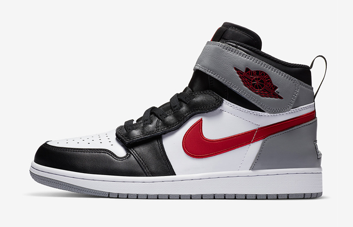 Official Look At The Air Jordan 1 Flyease Red Grey ft