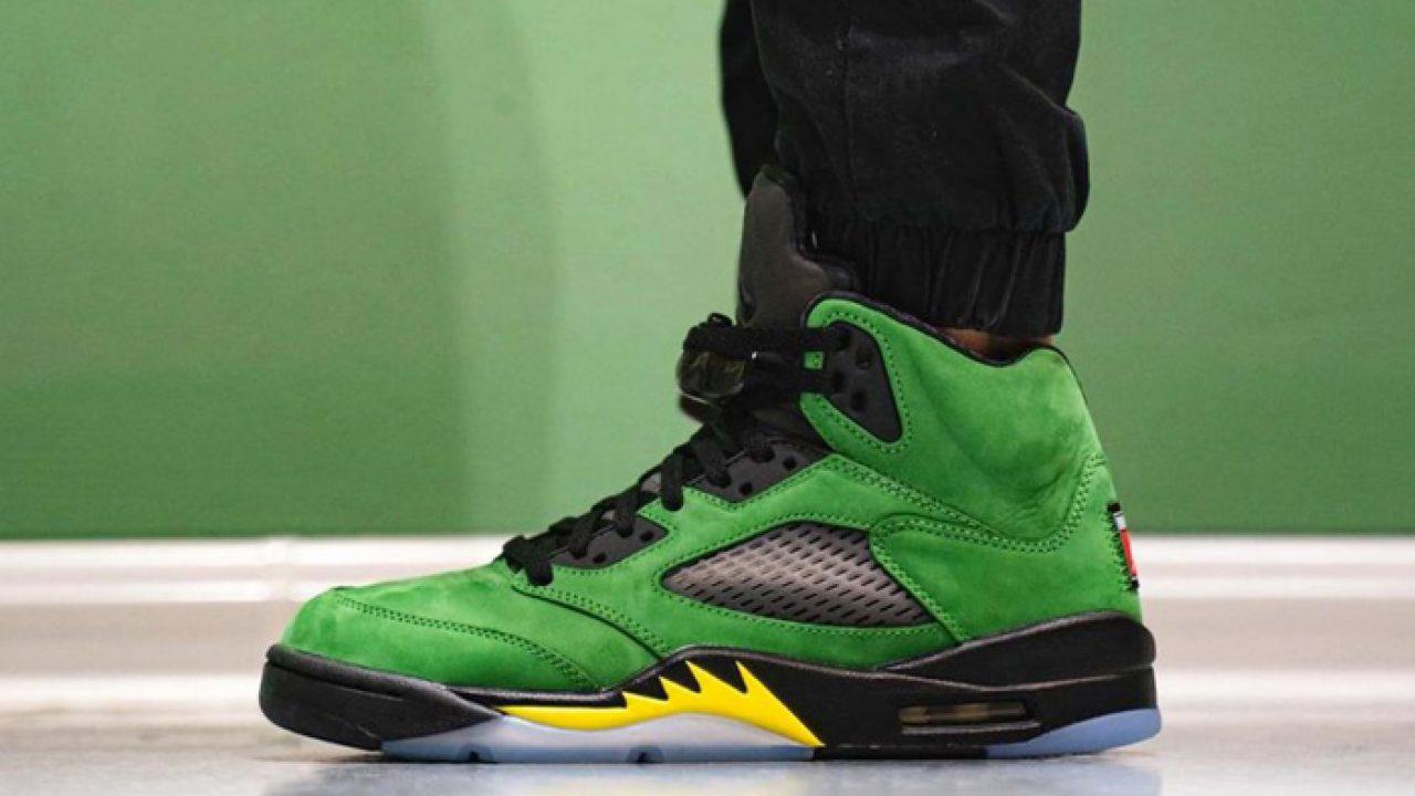 On Foot Clicks Of Nike Air Jordan 5 Oregon Ducks! – Fastsole