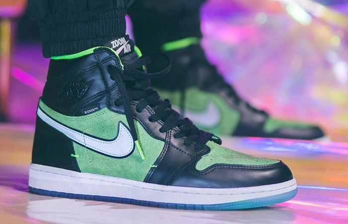 The Air Jordan 1 High Zoom Rage Green Is On The Way To Hit Sneakergoal! ft