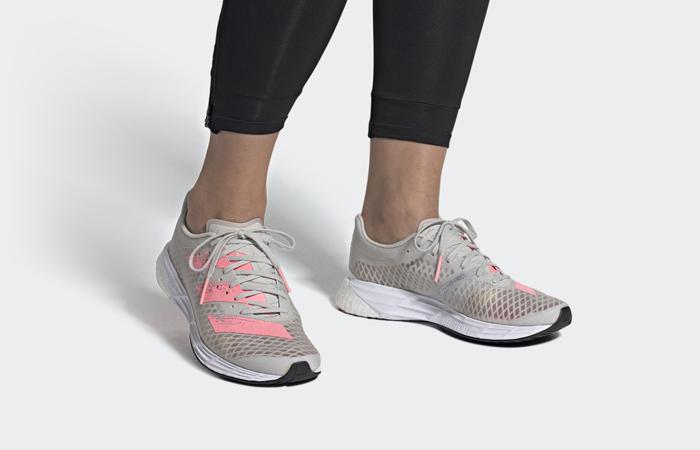 adidas Adizero Pro Grey One FX0078 on foot 01