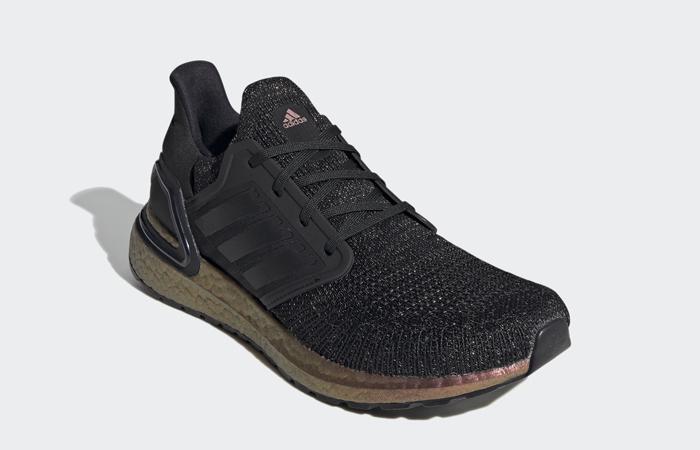 adidas Ultra Boost 20 Black Rose Gold FV8335 02