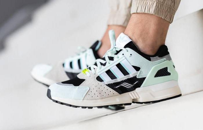 adidas ZX 10000 C Mint Black FV3324 on foot 01