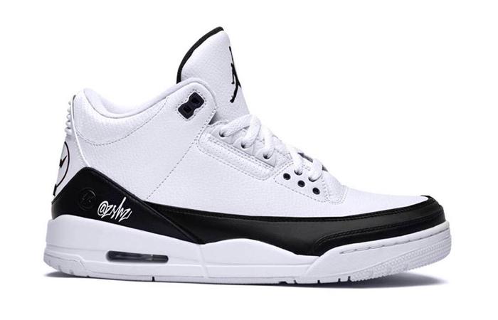 A Glance Look At The Fragment Design Air Jordan 3 White Black ft