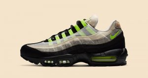 Detailed Look Updated For The Denham Nike Air Max 95 Neon Black 01
