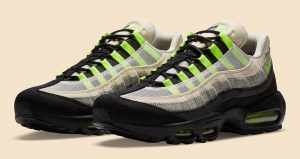 Detailed Look Updated For The Denham Nike Air Max 95 Neon Black 02