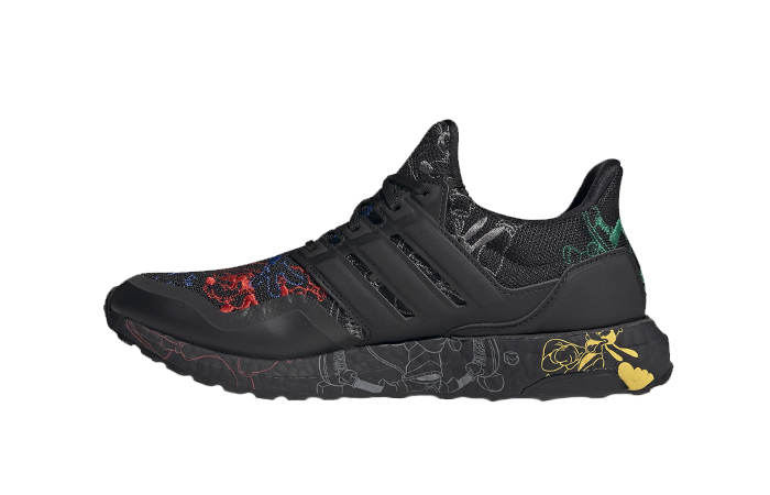 Disney adidas Ultra Boost Black Embroidered FV6050 01