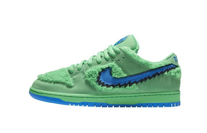 Grateful Dead Nike SB Dunk Low QS Green CJ5378-300 01