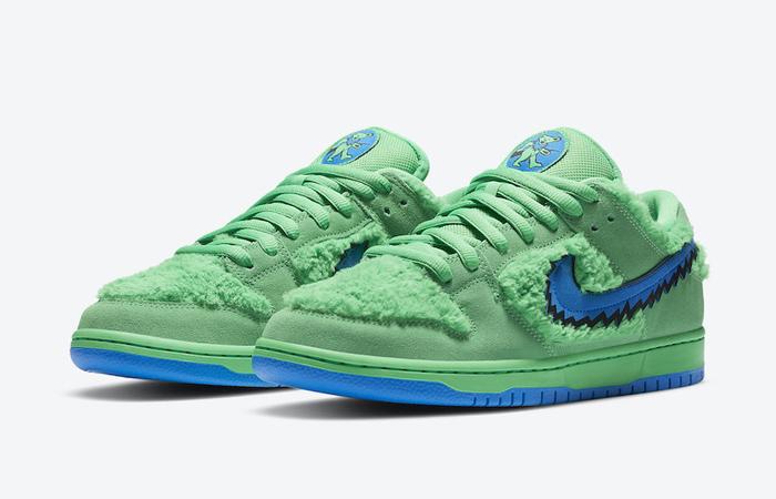 Grateful Dead Nike SB Dunk Low QS Green CJ5378-300 02