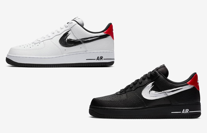 Here Is The Official Images Of Nike Air Force 1 Low Brushstroke Swoosh Pack ft