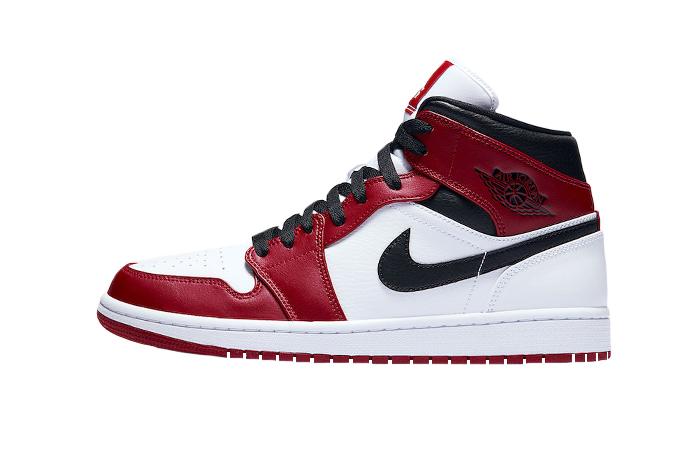Jordan 1 Mid Chicago 2020 Red White 554724-173 01