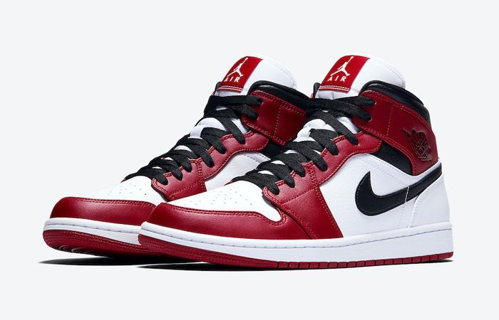 Jordan 1 Mid Chicago 2020 Red White 554724-173 02