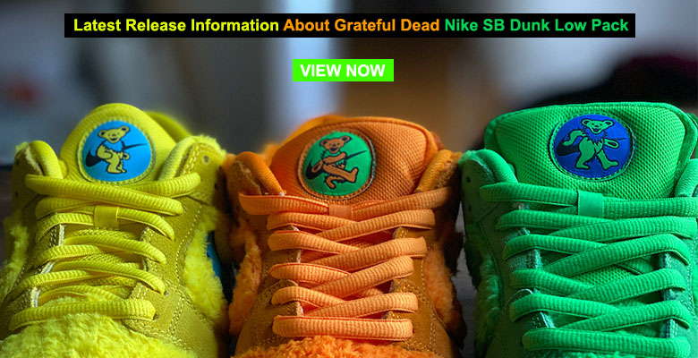 Latest Release Information About Grateful Dead Nike Nike SB Dunk Low Pack