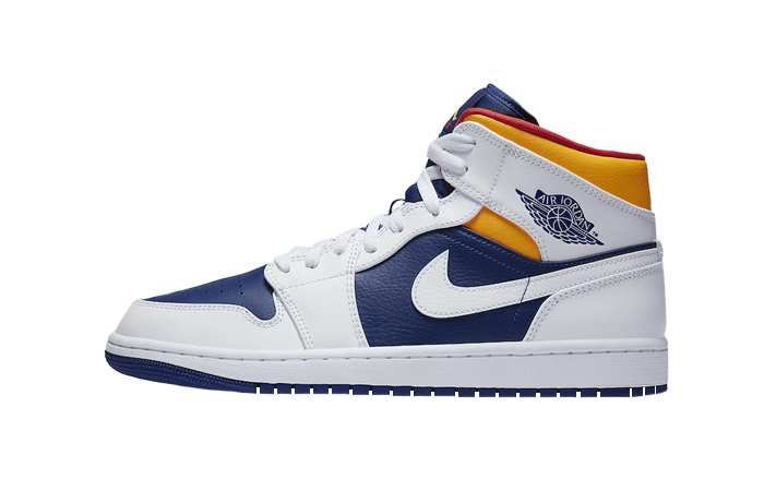 Nike Air Jordan 1 Mid Royal Blue Orange 554724-131 01