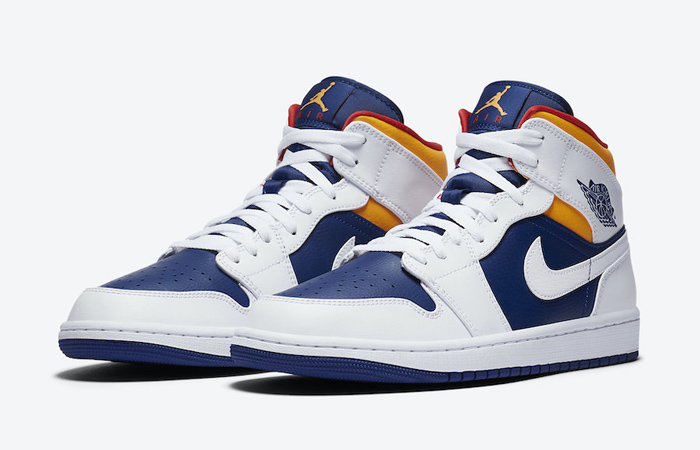 Nike Air Jordan 1 Mid Royal Blue Orange 554724-131 02