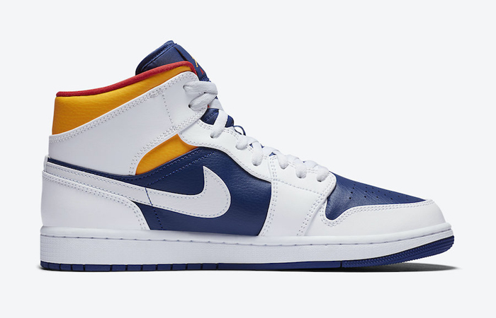 Nike Air Jordan 1 Mid Royal Blue Orange 554724-131 03