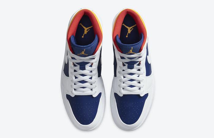 Nike Air Jordan 1 Mid Royal Blue Orange 554724-131 04