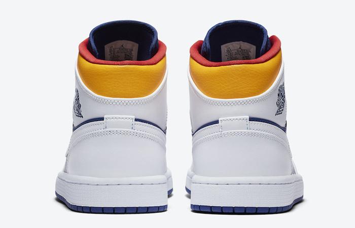 Nike Air Jordan 1 Mid Royal Blue Orange 554724-131 05