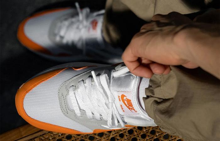 Nike Air Max 1 Anniversary Orange DC1454-101 on foot 02