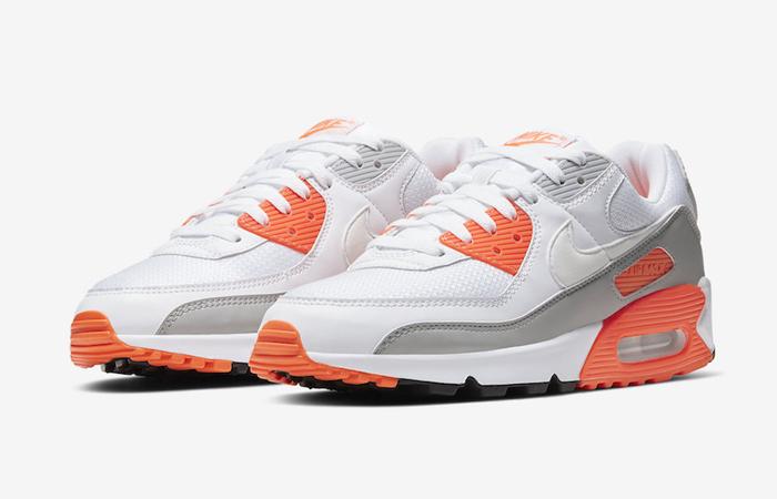 Nike Air Max 90 Orange Grey CT4352-103 02